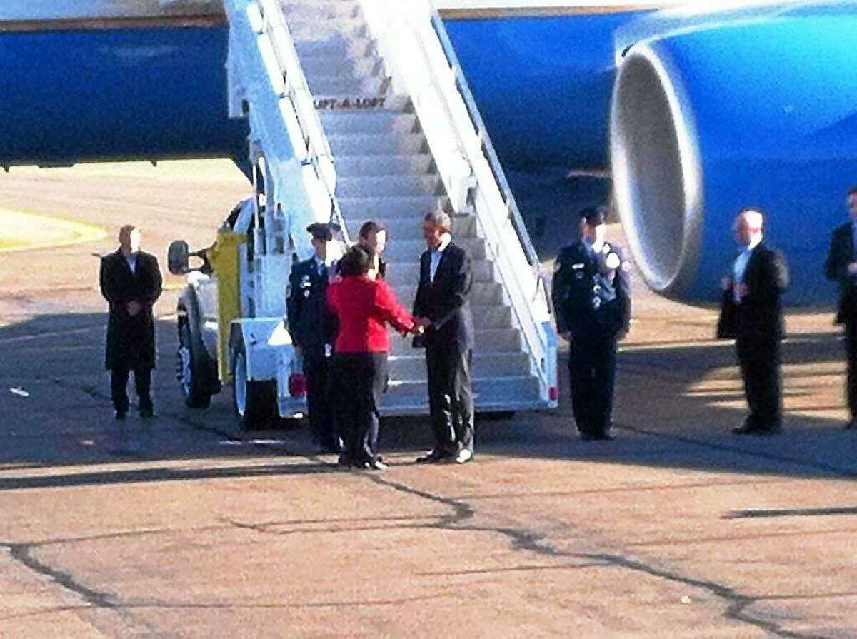 Then President Barack Obama and First Lady Michelle Obama visited New Haven during the lead up to the 2014 election. They landed in Air Force One at Tweed New Haven Regional Airport