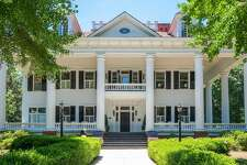 """Twelve Oaks in Covington, Ga., the inspiration for Ashley Wilkes' plantation home in """"Gone With the Wind,"""" is up for auction. See the listing at TopTenRealEstateDeals.com."""