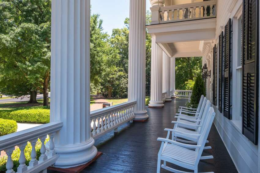 Porch at Twelve Oaks in Covington, Ga., the inspiration for Ashley Wilkes' plantation home in