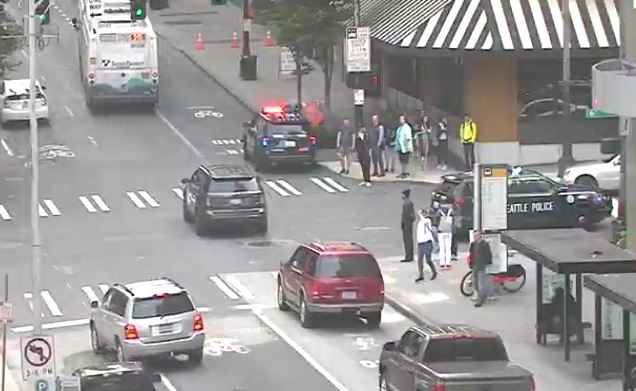 Police: At least 2 people stabbed near Nordstrom in Seattle; suspect in custody