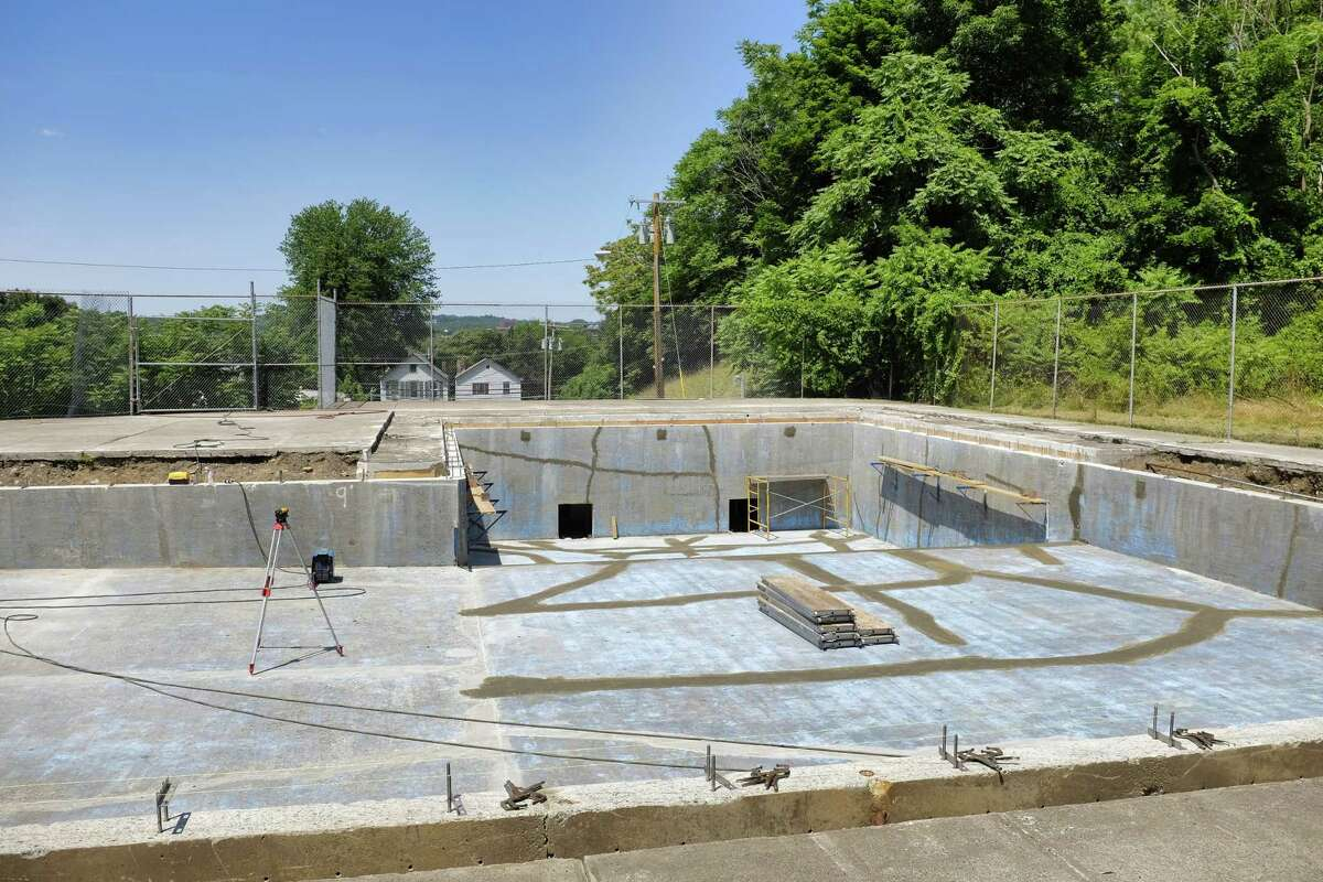 A view of the South Troy pool during a media tour of the facility on Tuesday, July 9, 2019, in Troy, N.Y. The pool, which has been closed for two summers, is being repaired so it can be operational again. (Paul Buckowski/Times Union)