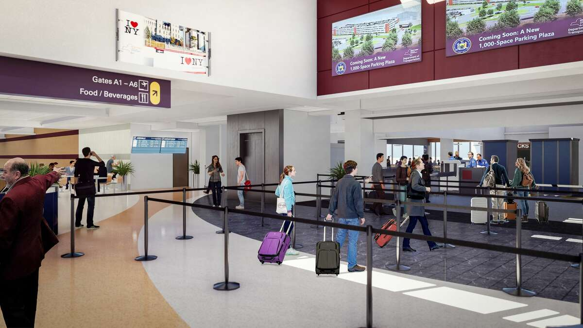 Renderings provided by the state of the renovations to Albany International Airport.