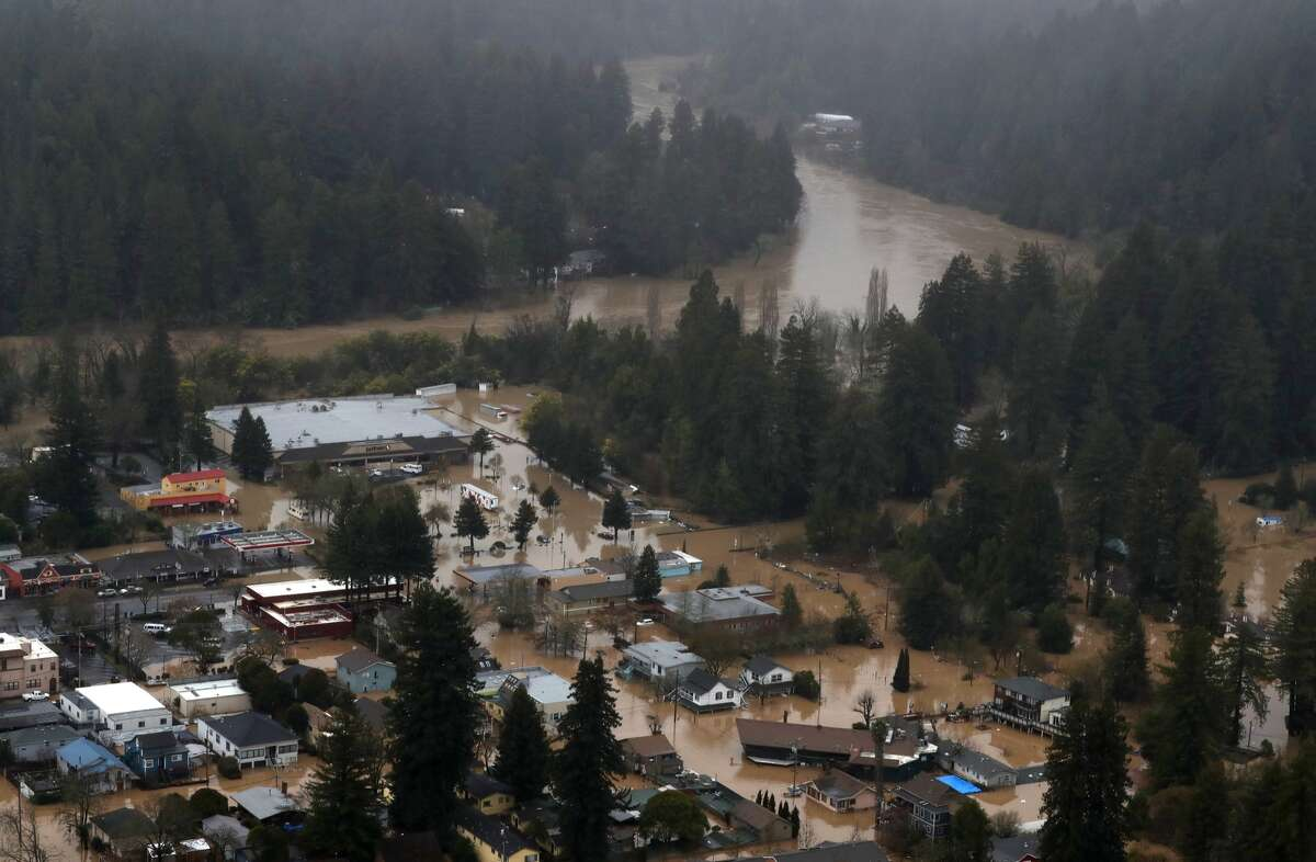 In the 2018-19 winter season, the Russian River overflowed its banks, causing massive flooding. Click ahead to see some before-and-after shots of those floods.