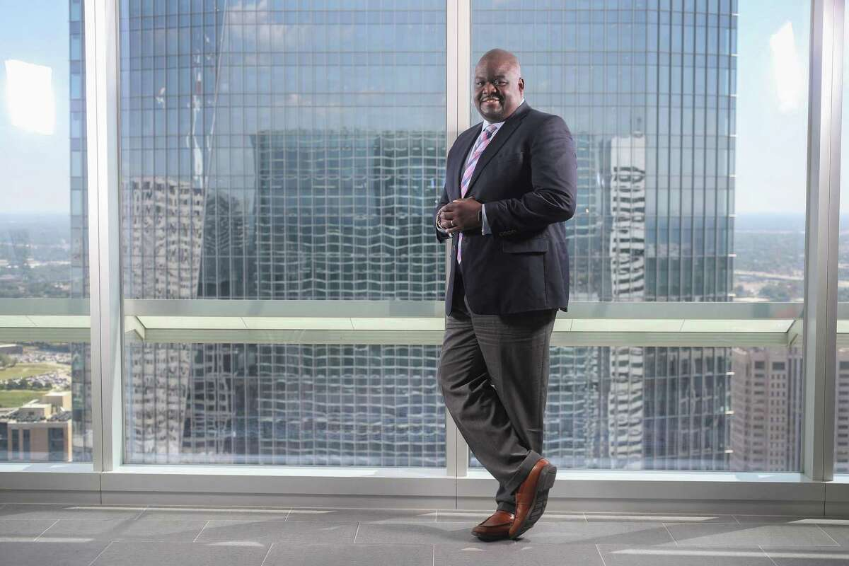 Billy Williams, former collegiate football player and KPMG (accounting/consulting) partner Thursday, June 13, 2019, in Houston.