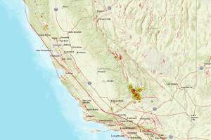 USGS maps show 1,289 earthquakes, magnitude 2.5 or greater, that have hit California over the last 7 days.