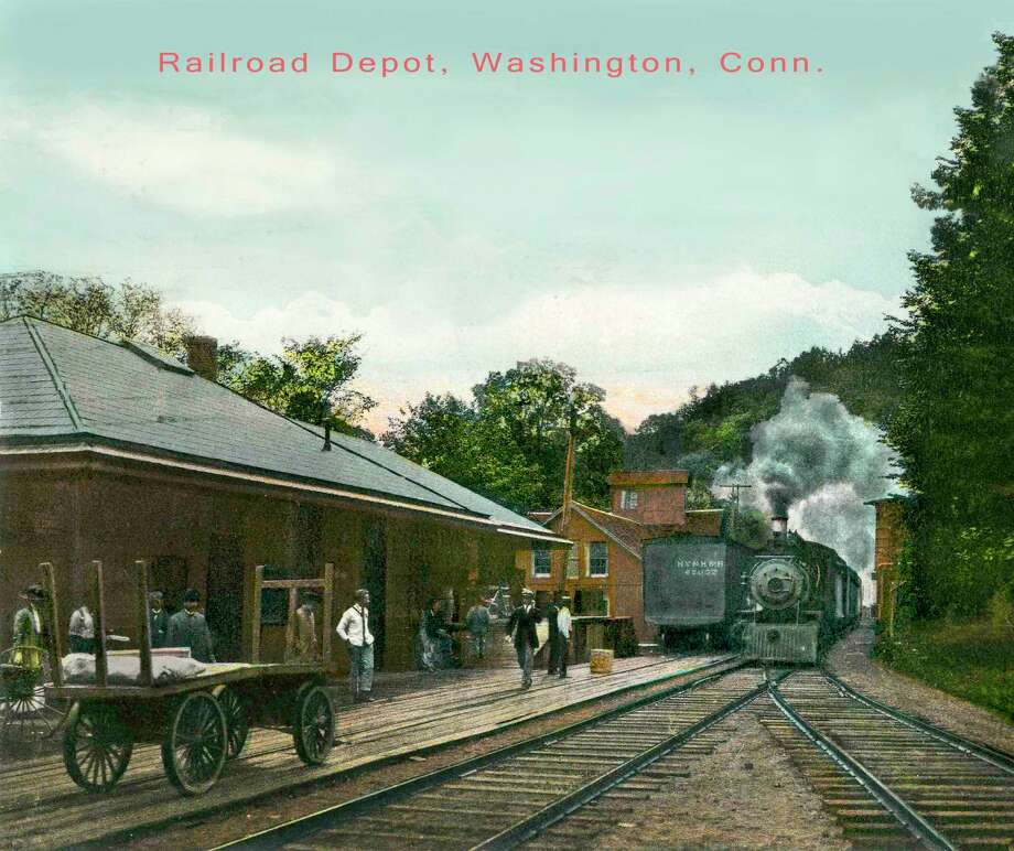 "Gunn Historical Museum in Washington will offer an illustrated presentation, ""History of the Shepaug Railroad,"" July 30 at 6:30 p.m. at the senior center in Bryan Hall Plaza. The Washington Depot train station is shown above, circa 1910. Photo: Courtesy Of Gunn Historical Museum / The News-Times Contributed"