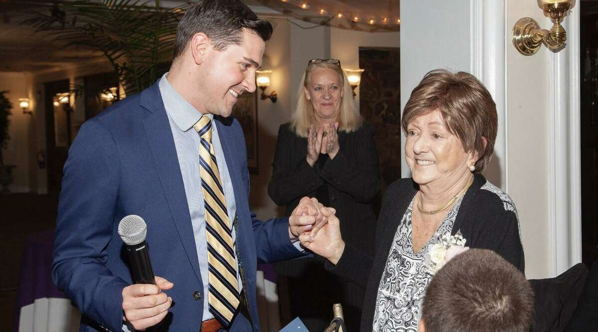 Jimmy Tickey withSusan Coyle, who received the Charles H. Flynn Humanitarian Award during the Valley United Way volunteer recognition dinner on June 3.