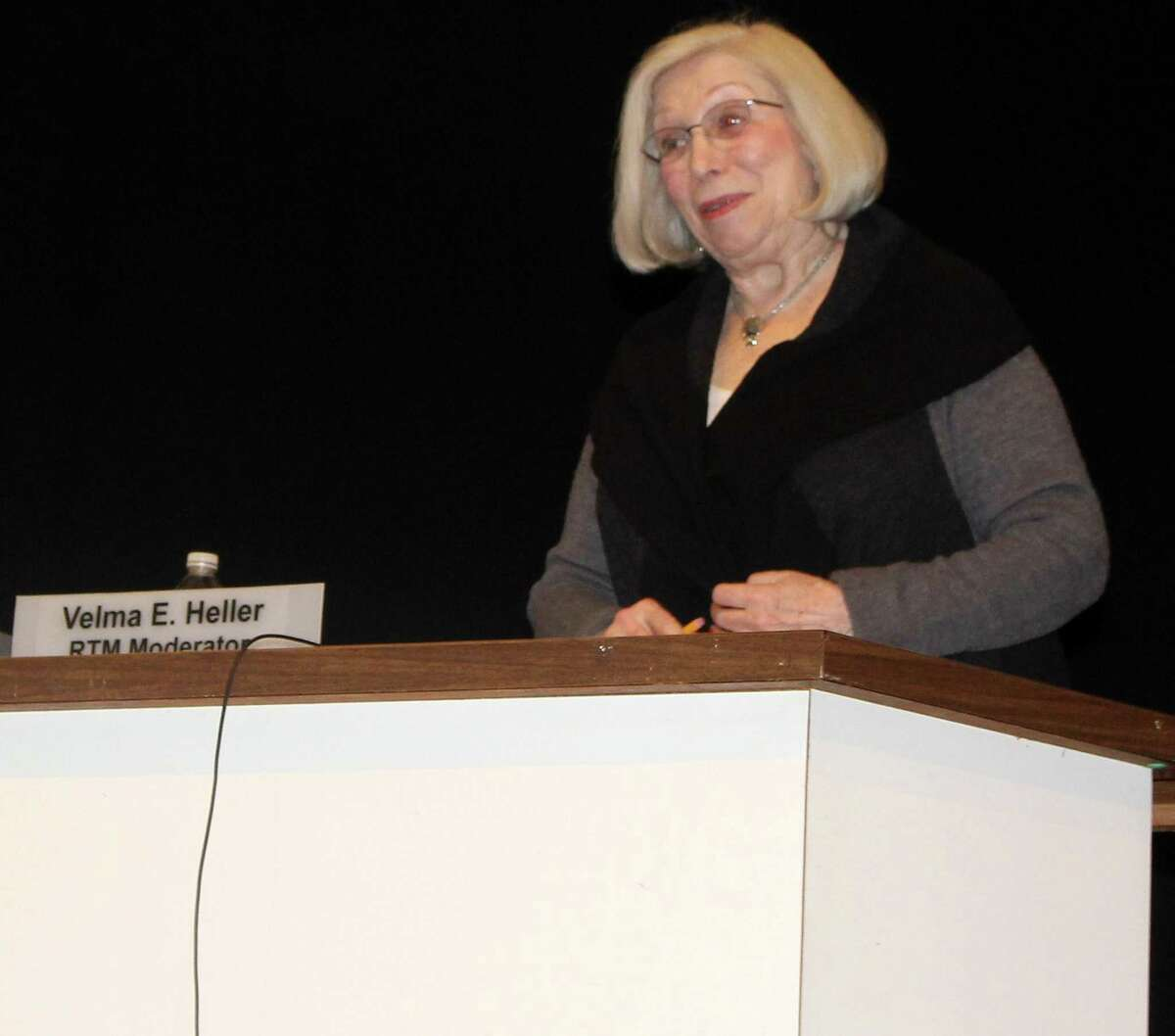 District 9 RTM member Dr. Velma Heller is the current moderator for the Representative Town Meeting.