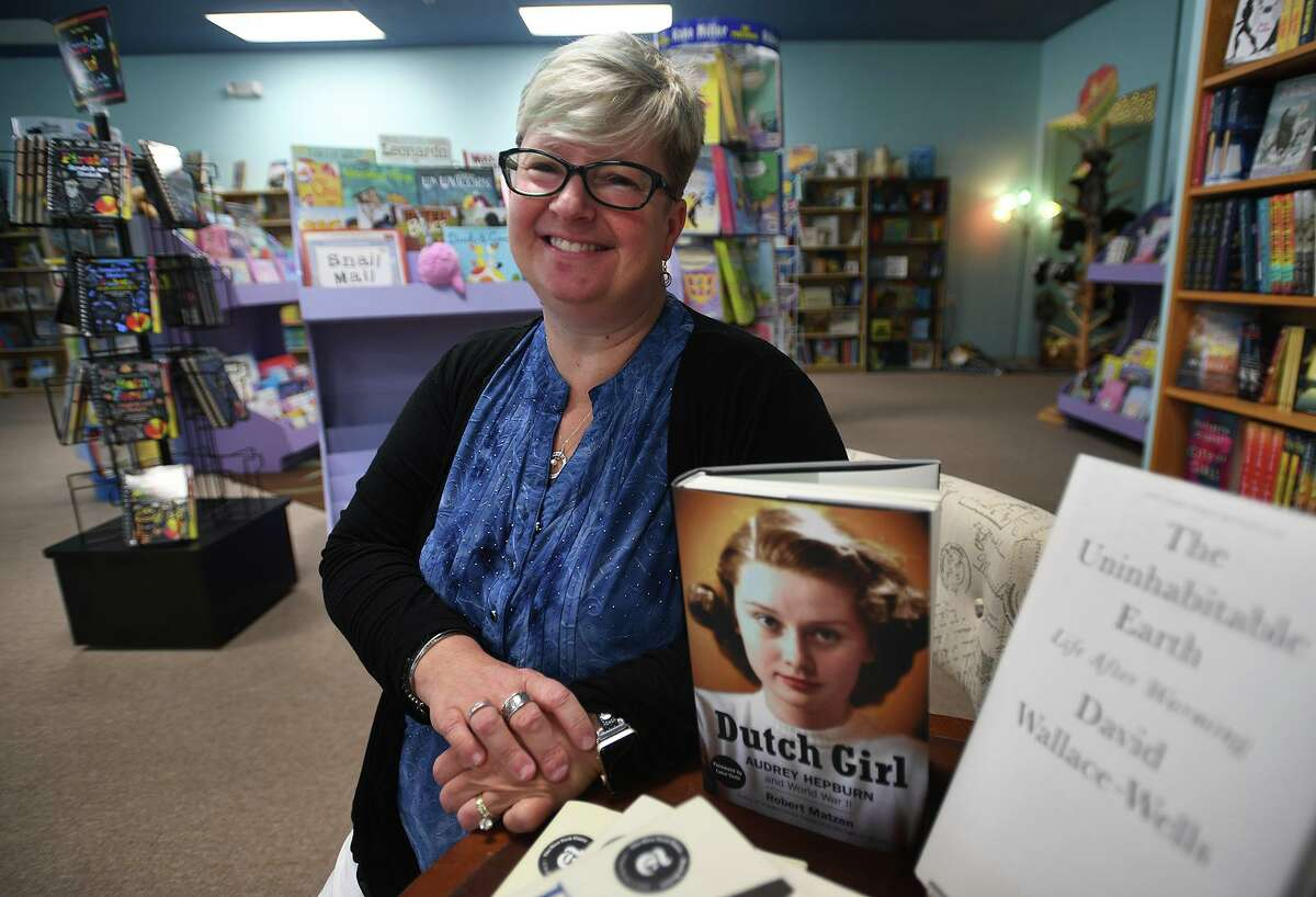 Owner Pia Ledina at the new Turning the Page bookstore at 477 Main Street in Monroe, Conn. on Wednesday, June 19, 2019.