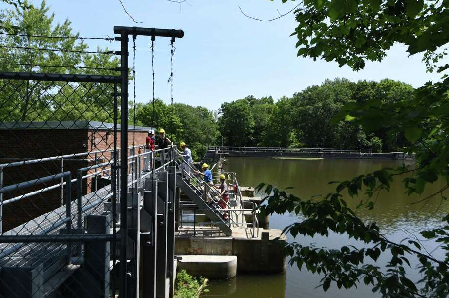 Dam portion of the Schuylerville Hydroelectric Facility on Tuesday, July 9, 2019, in Schuylerville, N.Y. Under an innovative mechanism known as remote net metering, Colonie has agreed to a 20-year power purchase agreement with Gravity Renewables, Inc. for power produced at a Schuylerville hydroelectric facility owned and operated by Brookfield Renewable.(Will Waldron/Times Union) Photo: Will Waldron, Albany Times Union / 40047435A