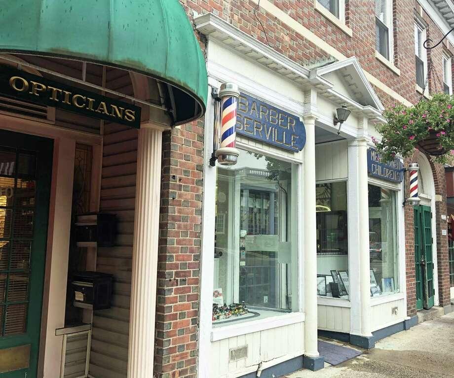 Barber Serville is closing after 61 years as a Fairfield landmark. Photo: Rachel Scharf / Hearst Media Connecticut