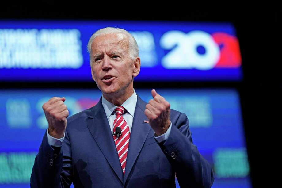 Democratic presidential candidate and former vice president Joe Biden speaks during the National Education Association Strong Public Schools Presidential Forum July 5 in Houston. Photo: David J. Phillip / Associated Press / Copyright 2019 The Associated Press. All rights reserved