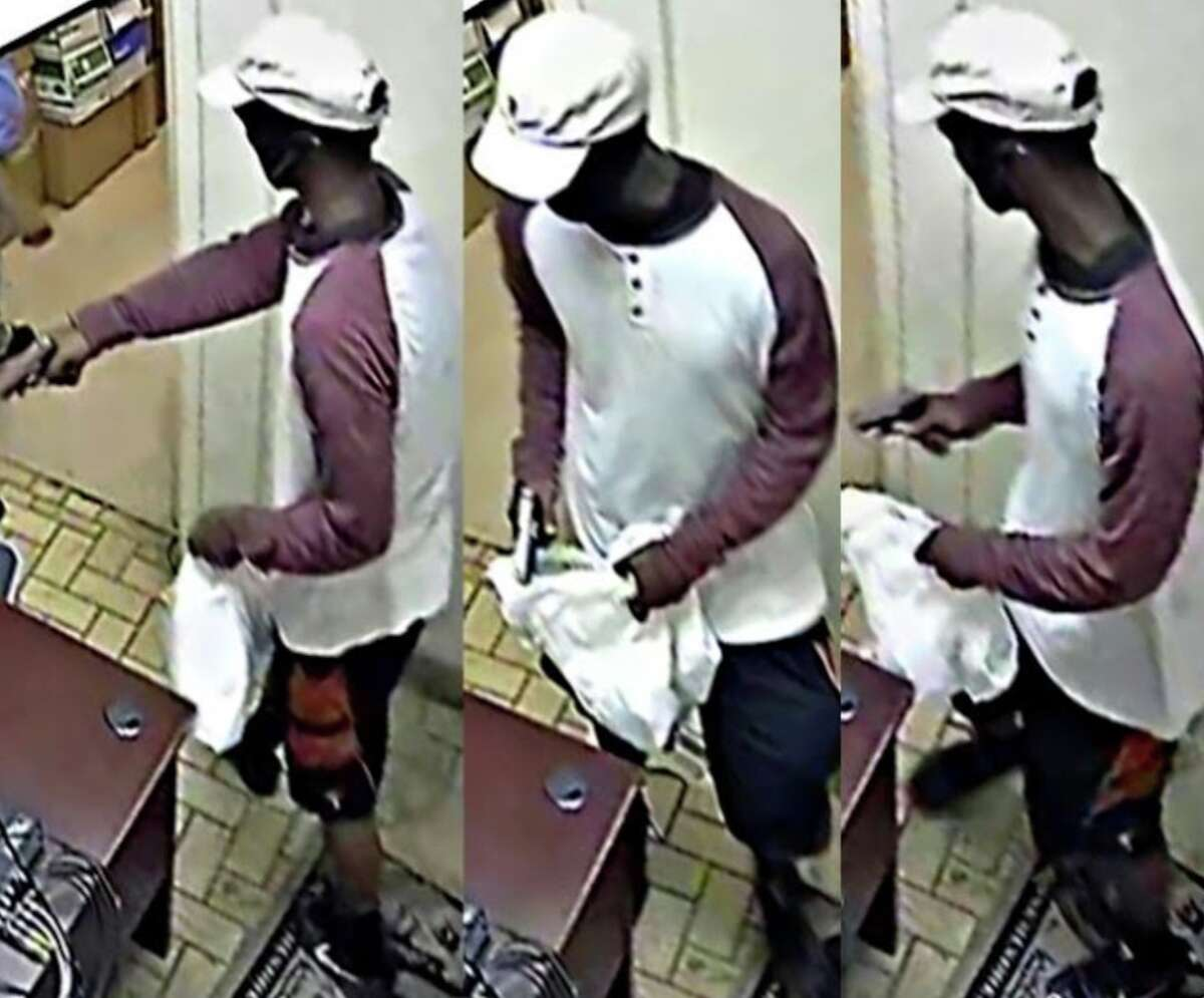 Date: June 13, 2019 Time: 8 a.m. Location 8631 Beechnut What happened: An unknown male entered the A-1 Check Cashing. The employee had just unlocked the door to the business as the male followed behind her. The male then pulled out a handgun while grabbing the employee and demanded access to the back office. The suspect was lead to the back office by the employee and was able to access safe, where he placed cash into a plastic bag. Once the suspect had the money, he fled the business in an unknown direction. Case number: #748006-19 Suspect description: Black male, 22 to 25 years old, 5 feet, 7 inches to 5 feet, 8 inches tall, 150 to 160 pounds, dark complexion, white shirt, black shorts and white cap.