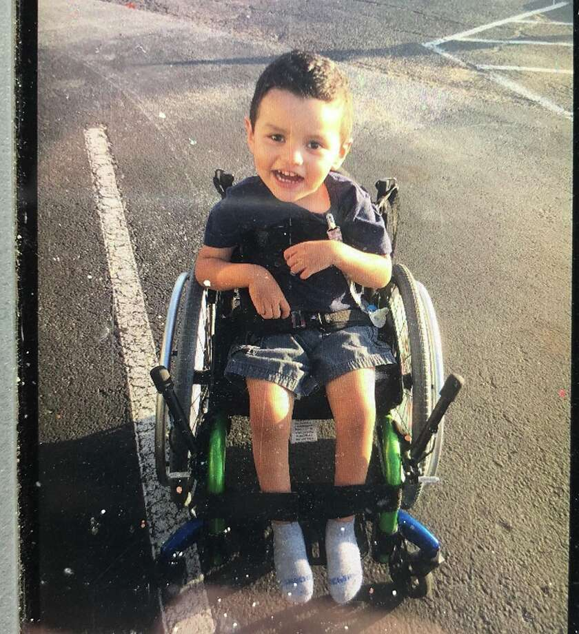 "Nathan will be reunited with his ""Monsters"" chair that he relies on for mobility. Photo: Wharton PD/Facebook"