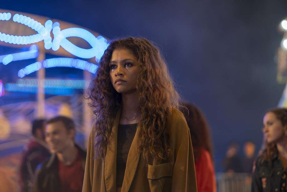 "Zendaya portrays Rue Bennett in episode 4 of HBO's ""Euphoria."" A video of a mom's encounter with the celebrity at Plank in Oakland has gone viral. Photo: Eddy Chen /�HBO"