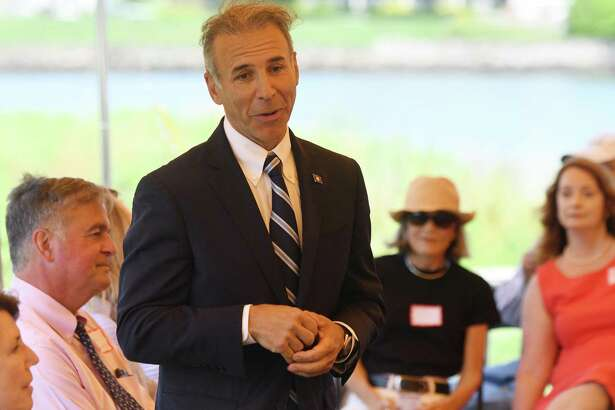 State Rep. Fred Camillo, R-151, seen here at a League of Women Voters event earlier this month is now officially the Republican candidate for first selectman after Tuesday night's RTC meeting.