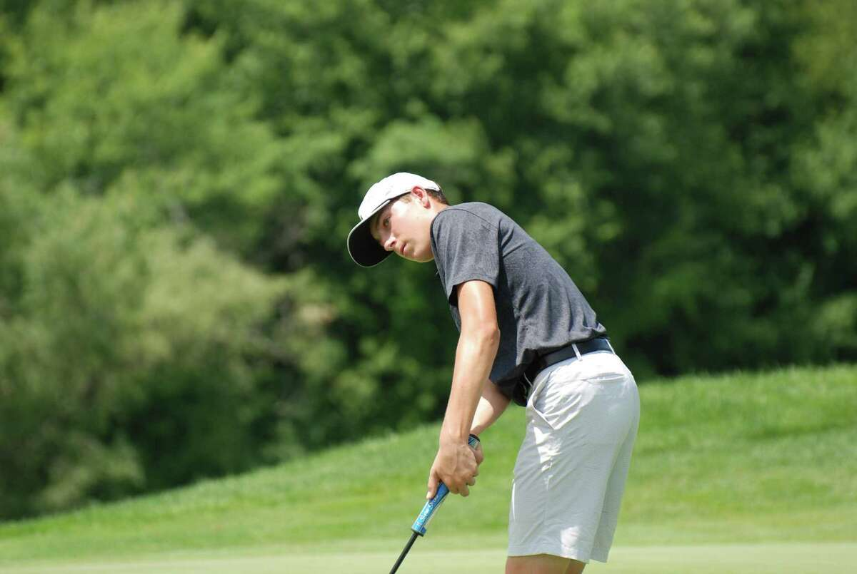 Ben James of Great River Golf Club competes during the Connecticut Junior Amateur at Watertown Golf Club in Watertown, Conn. on Tuesday, July 9, 2019.