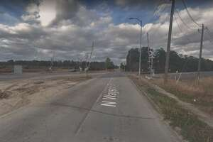 Houston police say a drunken man raised the crossing arms on train tracks about 6:30 p.m. Tuesday in the 10100 block of Wayside Drive, when a passing train killed him.