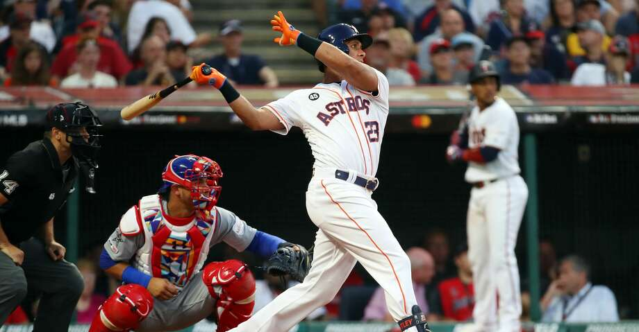 CLEVELAND, OHIO - JULY 09: Michael Brantley #23 of the Houston Astros and the American League bats against the National League during the 2019 MLB All-Star Game, presented by Mastercard at Progressive Field on July 09, 2019 in Cleveland, Ohio. (Photo by Gregory Shamus/Getty Images) Photo: Gregory Shamus/Getty Images