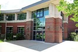 Exterior, Shelton Intermediate School, in Shelton, Conn. Aug. 9, 2016.