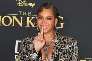 "TOPSHOT - US singer/songwriter Beyonce arrives for the world premiere of Disney's ""The Lion King"" at the Dolby theatre on July 9, 2019 in Hollywood. (Photo by Robyn Beck / AFP)ROBYN BECK/AFP/Getty Images"