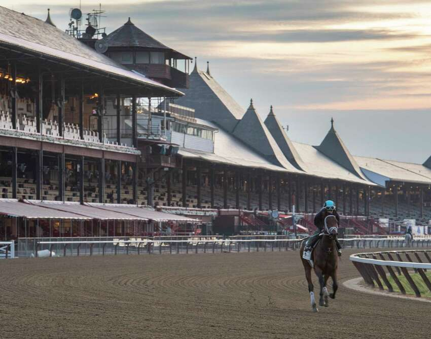 If the coronavirus pandemic makes it inadvisable to have fans attend races at Saratoga Race Course, every day will look kind of like a morning workout at the famed oval. (Skip Dickstein / Times Union archive)
