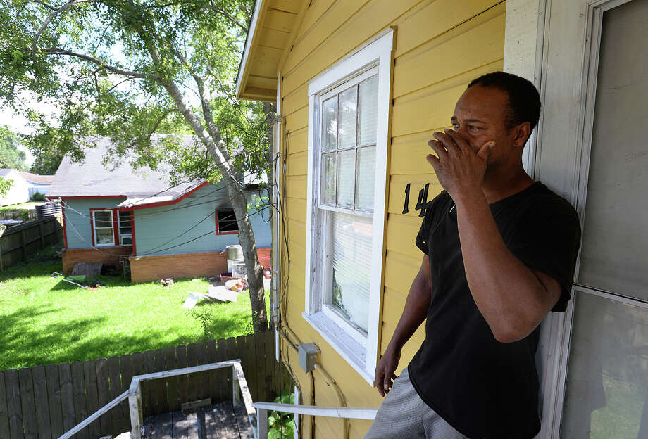 Neighbor to the 19-year-old boy who died in Monday's fire in Beaumont, Norrell Hebert talks about being unable to get inside of the burning house after several attempts.   Photo taken Tuesday, 7/9/19 Photo: Guiseppe Barranco/The Enterprise / Guiseppe Barranco ©
