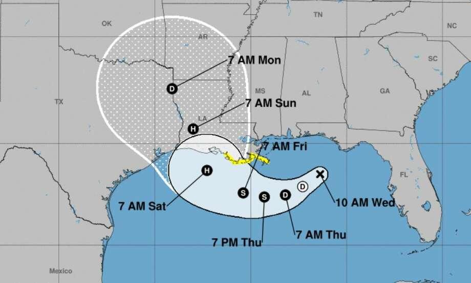 Photo: National Hurricane Center, 10 a.m. Wednesday