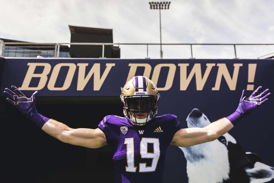 The University of Washington and Adidas revealed the Huskies' new 2019 uniforms on Wednesday morning. Photo: Washington Athletics