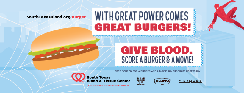 Get free Whataburger, Alamo Drafthouse movie when you donate blood in July