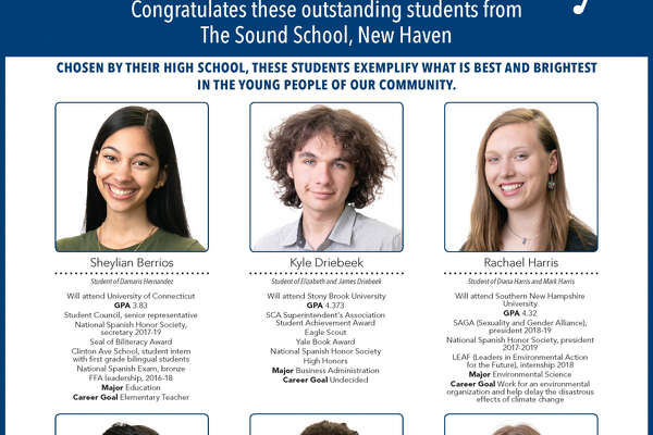 "The Register's annual ""Senior Spotlight"" series, sponsored by Yale University, spotlights talented New Haven-area high school seniors and shares information about them and their dreams for the future."