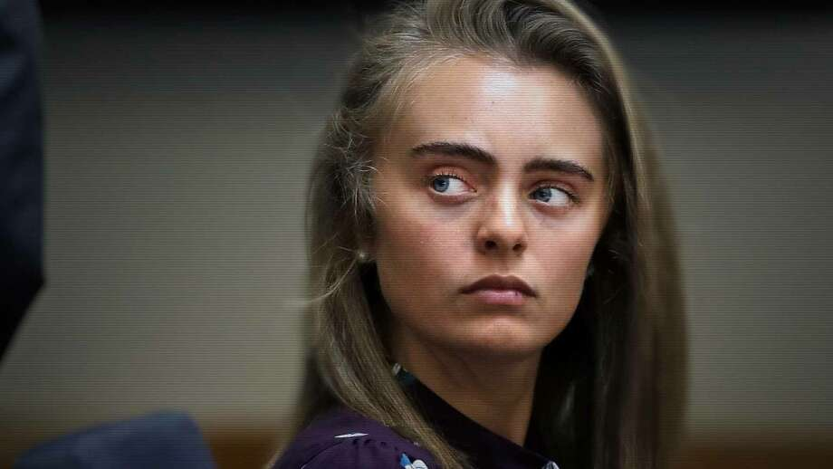 """Michelle Carter, as seen in a courtroom scene of """"I Love You, Now Die."""" Photo: HBO / HBO"""