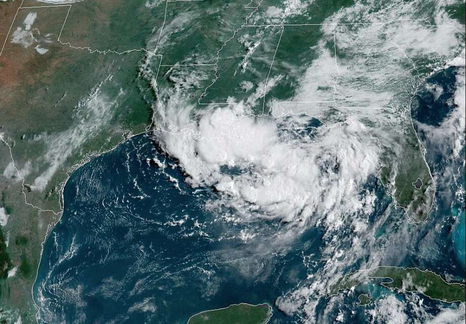 Satellite images show a system of low pressure over the northern Gulf of Mexico on Wednesday, July 10. It's expected to form into a tropical depression later today or Thursday. Photo: National Weather Service