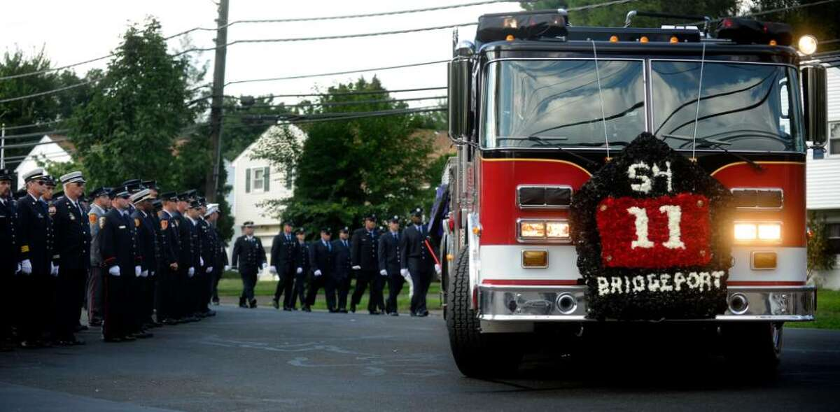 The funeral for Bridgeport Firefighter Michel Baik at St. Nicholas Antiochian Orthodox Church on Friday, July 30, 2010.