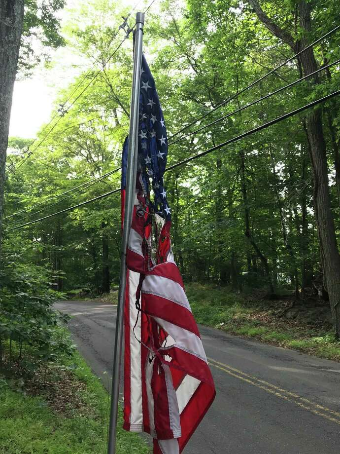 Two American flags were burned on Barrack Hill Road in Ridgefield during the overnight hours of Sunday, July 7, and Monday, July 8. Photo: Jairo Contreras / Contributed Photo