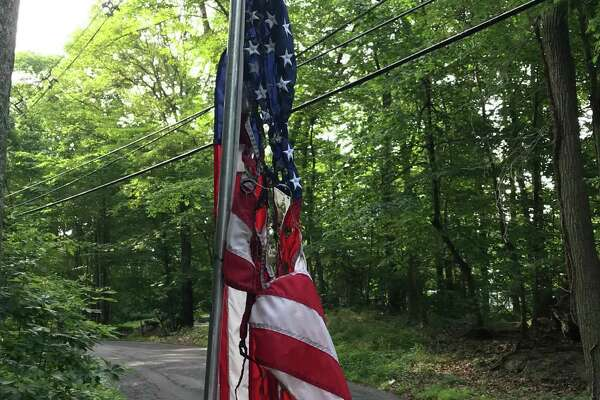 Two American flags were burned on Barrack Hill Road in Ridgefield during the overnight hours of Sunday, July 7, and Monday, July 8.