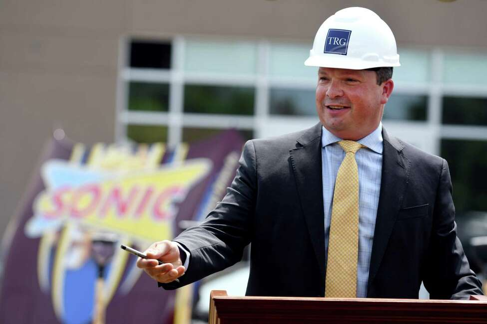 Kevin Parisi of Trinity Realty Group speaks during the groundbreaking ceremony for the third Capital Region Sonic location on Wednesday, July 10, 2019 in Albany, N.Y. Sonic, which is part of the redevelopment plan for the new Mount Hope Commons, is expected to bring over 100 jobs to the area. (Catherine Rafferty/Times Union)