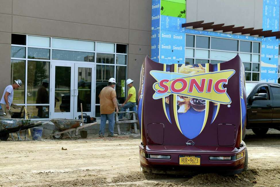 Construction site for the new Mount Hope Commons on Wednesday, July 10, 2019 in Albany, N.Y. All tenants are expected to open by late summer 2020, with Sonic opening this August. (Catherine Rafferty/Times Union)