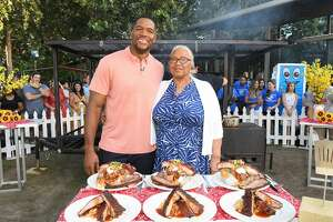 GOOD MORNING AMERICA - 7/10/19 ÒGood Morning AmericaÓ broadcasts live from Houston, Texas on Wednesday, July 10, 2019 airing on the Walt Disney Television Network.    GMA19 (Walt Disney Television/Lorenzo Bevilaqua)  MICHAEL STRAHAN, LOUISE STRAHAN