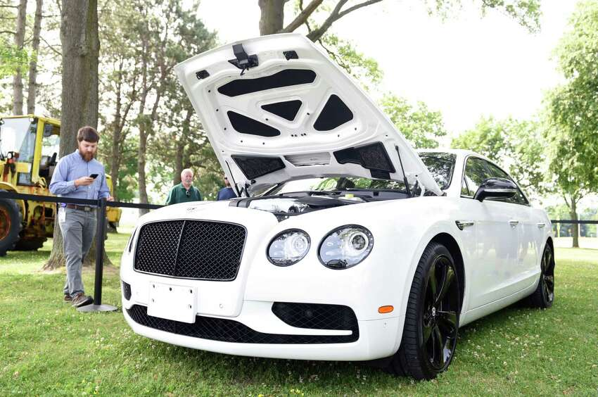 A 2017 Bentley Flying Spur is roped off before the start of its bidding during the NYS Office of General Services auction on Wednesday, July 10, 2019 at Harrimon Campus in Albany, NY. (Phoebe Sheehan/Times Union)