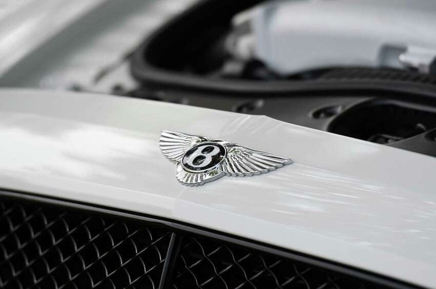 Details of a 2017 Bentley Flying Spur during the NYS Office of General Services auction on Wednesday, July 10, 2019 at Harrimon Campus in Albany, NY. (Phoebe Sheehan/Times Union)
