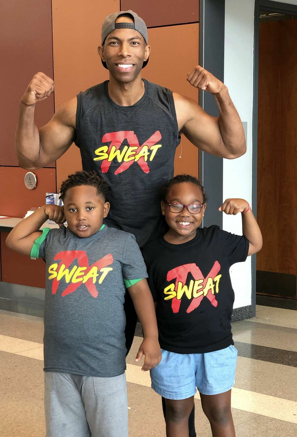 Fox 26 anchor Jonathan Martin, a fitness and dance fanatic, has partnered with the Houston Parks and Recreation Dept. on his Sweat TX effort to bring fitness workouts to children. He recently did a workout for 50 kids at Emancipation Park.
