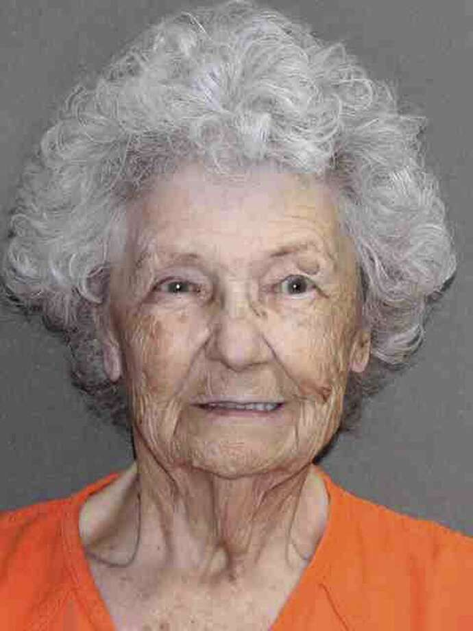 In this undated booking photo provided Wednesday, July 10, 2019, by the Leon County, Texas, Sheriff's Office is 84-year-old Norma Allbritton. Allbritton was arrested July 1 on a murder charge in the 1984 shooting death of her husband. (Leon County, Texas, Sheriff's Office via AP) Photo: Associated Press