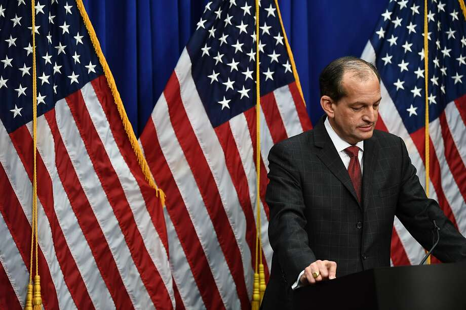 Labor Secretary Alexander Acosta defended his handling of a sex-trafficking case involving financier Jeffrey Epstein. Photo: Brendan Smialowski / AFP / Getty Images