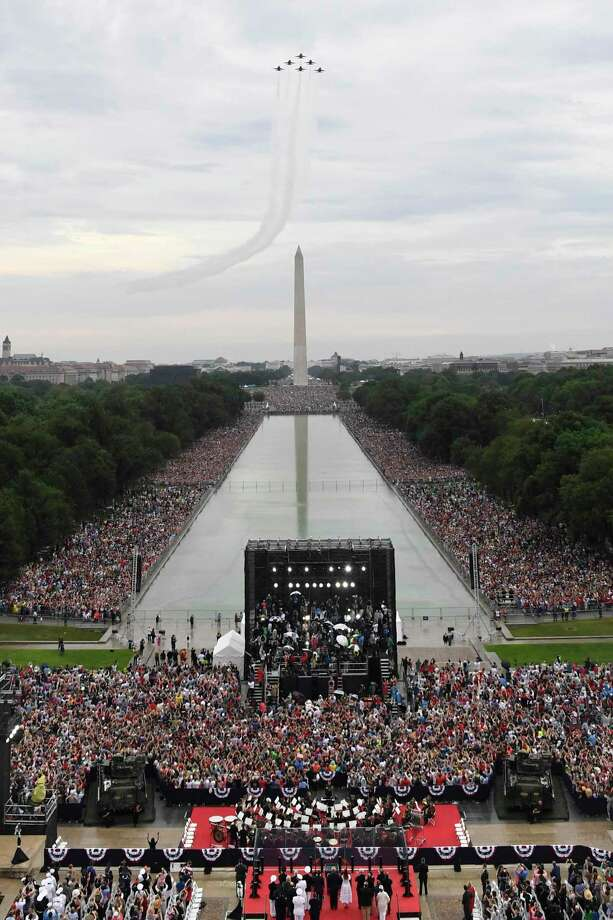 A reader was pleased with President Donald Trump's July Fourth celebration and displeased with what critics had to say about it. Photo: Susan Walsh / Associated Press / AP POOL