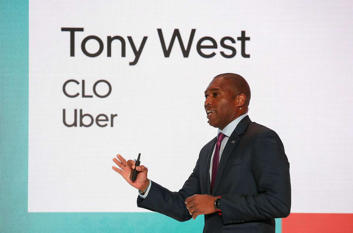 WASHINGTON, DC - JUNE 11: Tony West, SVP, Chief Legal Officer & Corporate Secretary, Uber speaks during the Uber Elevate Summit 2019 at Ronald Reagan Building and International Trade Center on June 11, 2019 in Washington, DC.