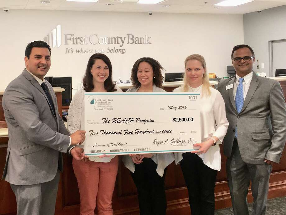 First County Bank has awarded Bridgeport Hospital's REACH Program with $2,500 to go toward the children's program (patients ages 5-12 years old). Photo: Contributed / Bridgeport Hospital