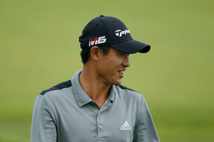 BLAINE, MINNESOTA - JULY 07: Collin Morikawa of the United States looks on during the final round of the 3M Open at TPC Twin Cities on July 07, 2019 in Blaine, Minnesota. (Photo by Michael Reaves/Getty Images)