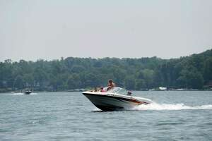 Boating on Candlewood Lake in Brookfield, Monday, July 2, 2018.