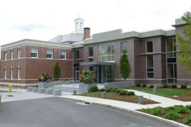 Pictured is one side of New Canaan Town Hall.